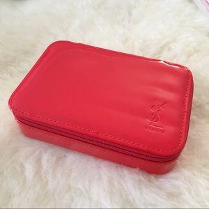 YSL patent beauty vanity case pouch makeup bag